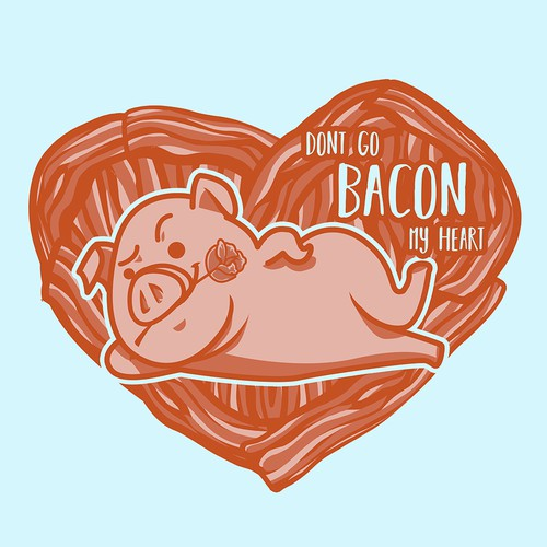 Food pun Bacon