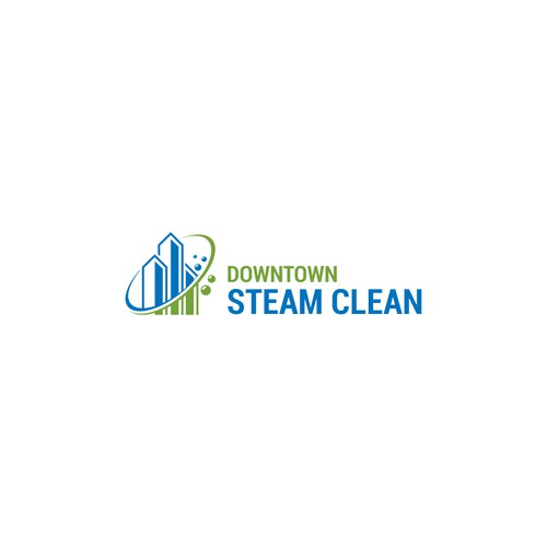 eye catching logo for an innovative new steam cleaning company