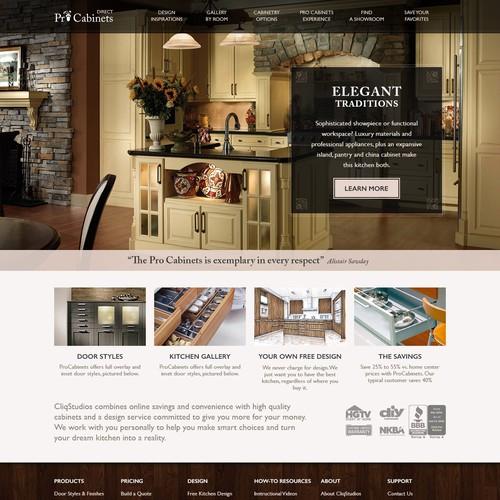 Website Design for Pro Cabinets Direct