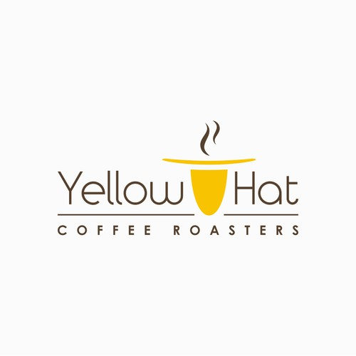 Help launch a young startup to the next level. Yellow Hat Coffee Roasters logo
