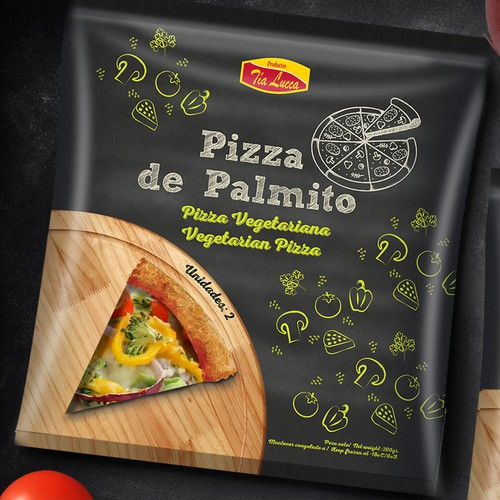 packaging design for frozen pizza