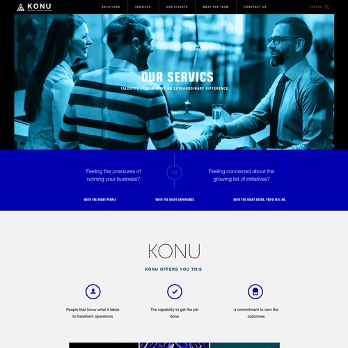 KONU Services Page