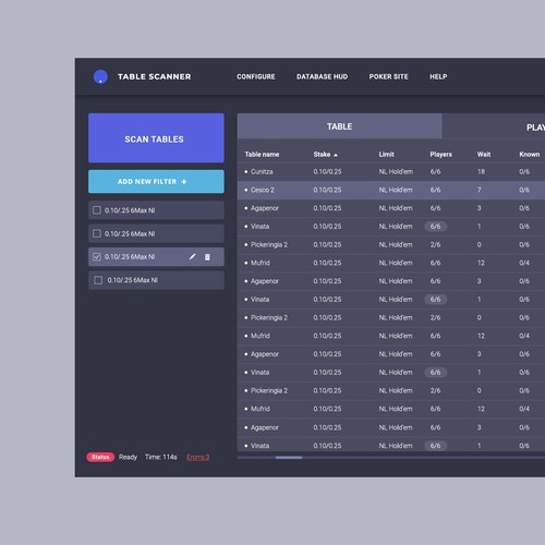 Table Scanner App