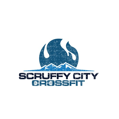 Logo for CrossFit gym named SCRUFFY CITY CROSSFIT
