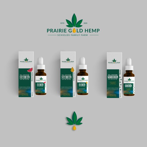 Logo and Package for CBD oil