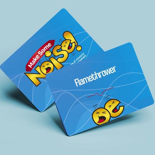 Diseño de empaque y cartas para el juego de mesa ¨Make Some Noise!¨