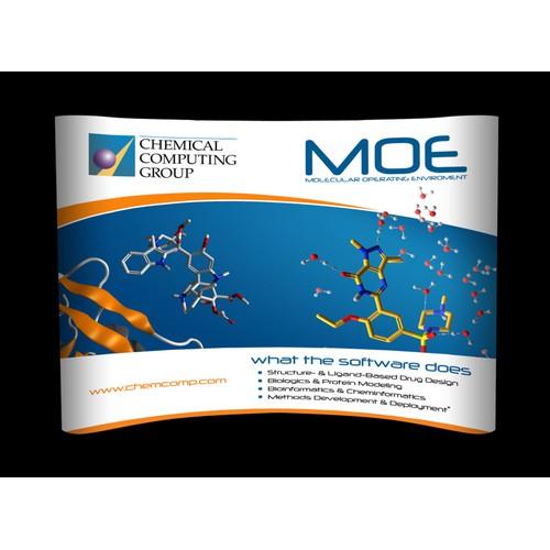 Trade Show Booth Design - Drug Discovery Software - Create a Piece ofMolecular Artwork