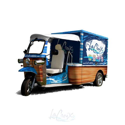 Retro Electric Vehicle For Beverage Sampling