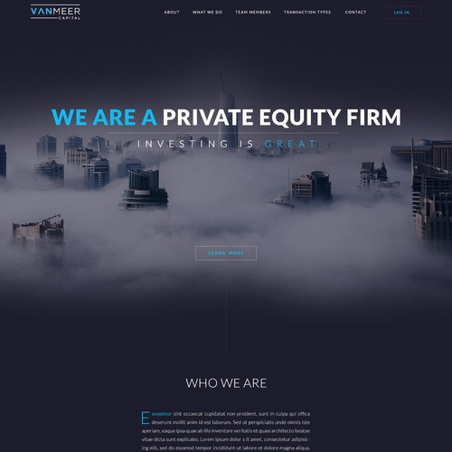 Design for private equity