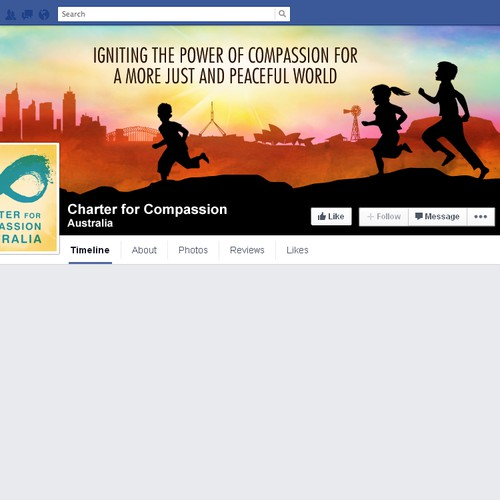 Inspiring facebook Page for International Not-for-profit Peace Organisation