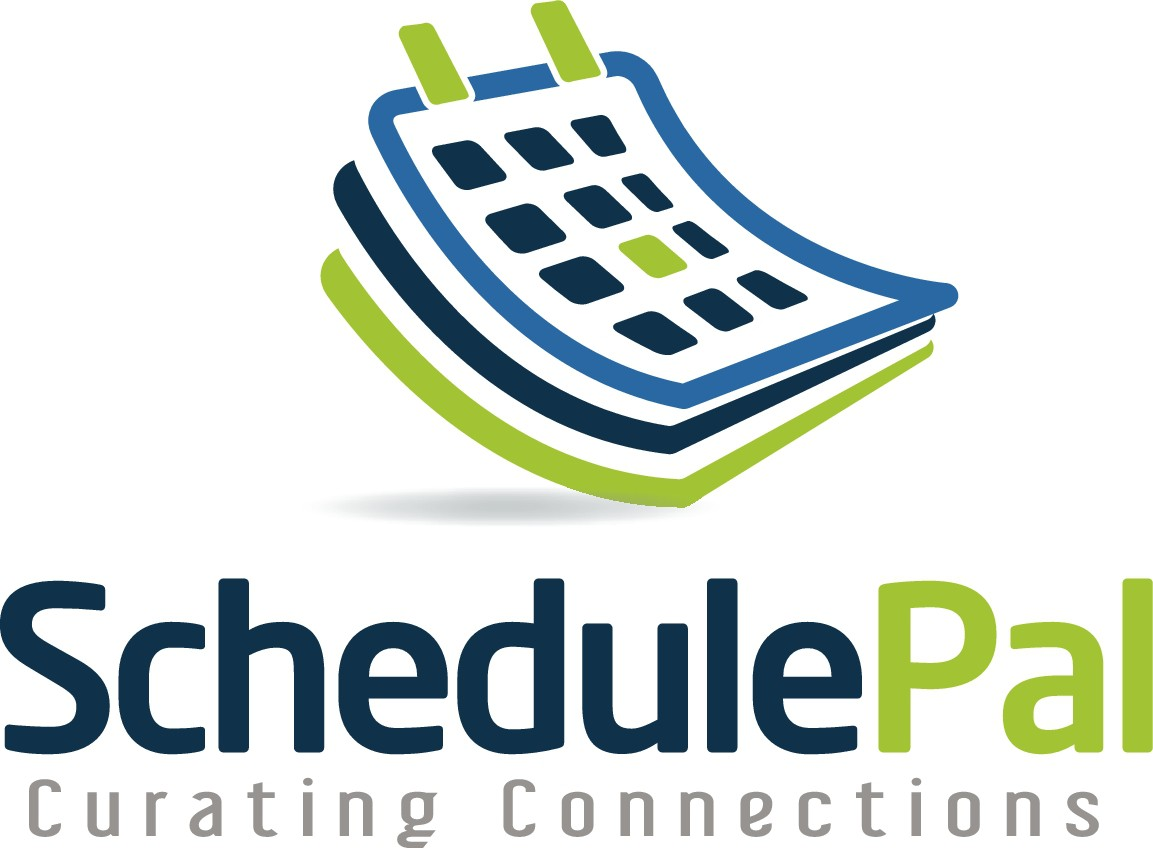 Create a logo and brand identity for an online scheduling solution that helps busy people connect