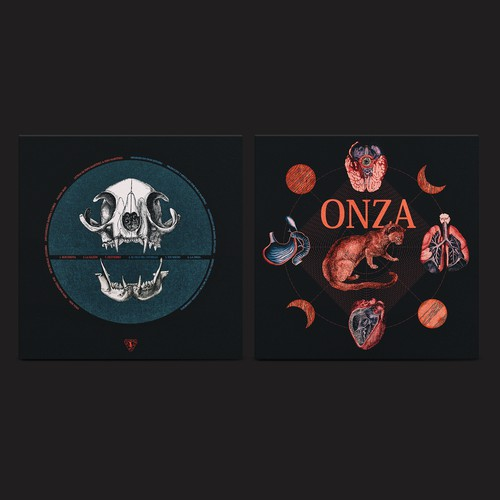 """ONZA s.t. 10"""" Vinyl album design. Discos Furia"""