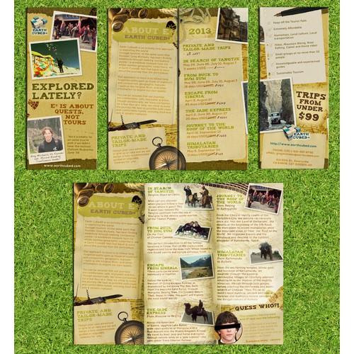 Brochure design for Earth Cubed