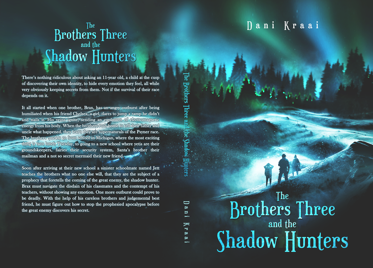 Eye-catching book cover for a middle grade fantasy novel.