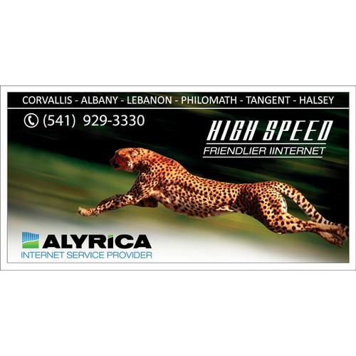 New Billboard advertising high speed internet access