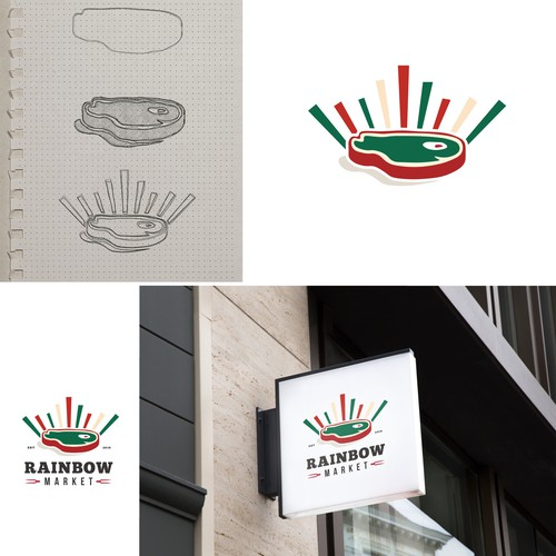 Logo Design for RAINBOW Market