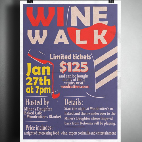 Poster for wine crawl