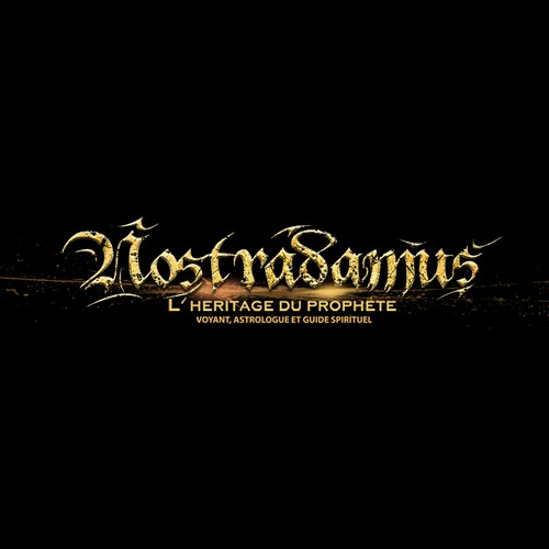Logo for Nostradamus site (clairvoyance, tarot reading, prophecies)