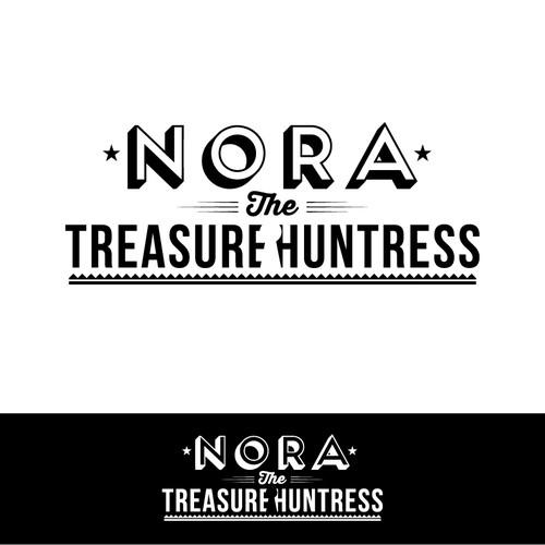 Create the next logo for Nora the Treasure Huntress
