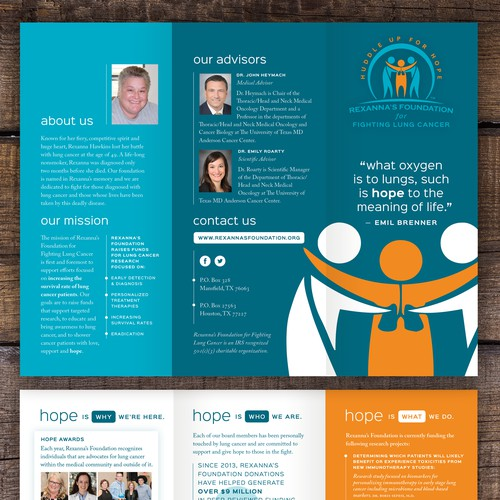 Trifold Brochure for Charity Foundation