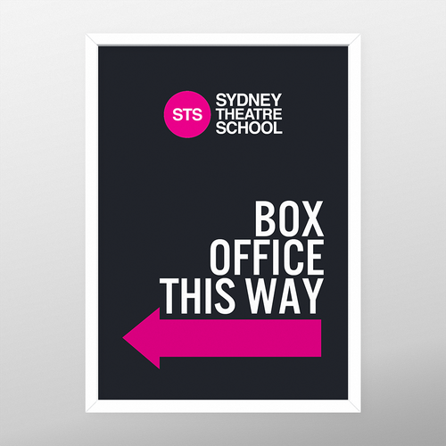 Signage for Theatre School