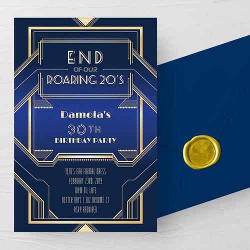 20's themed invitation