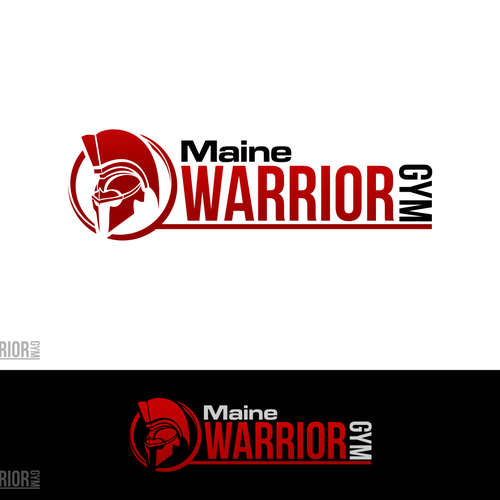 Create a badass logo for a warrior gym, extreme fitness facility.