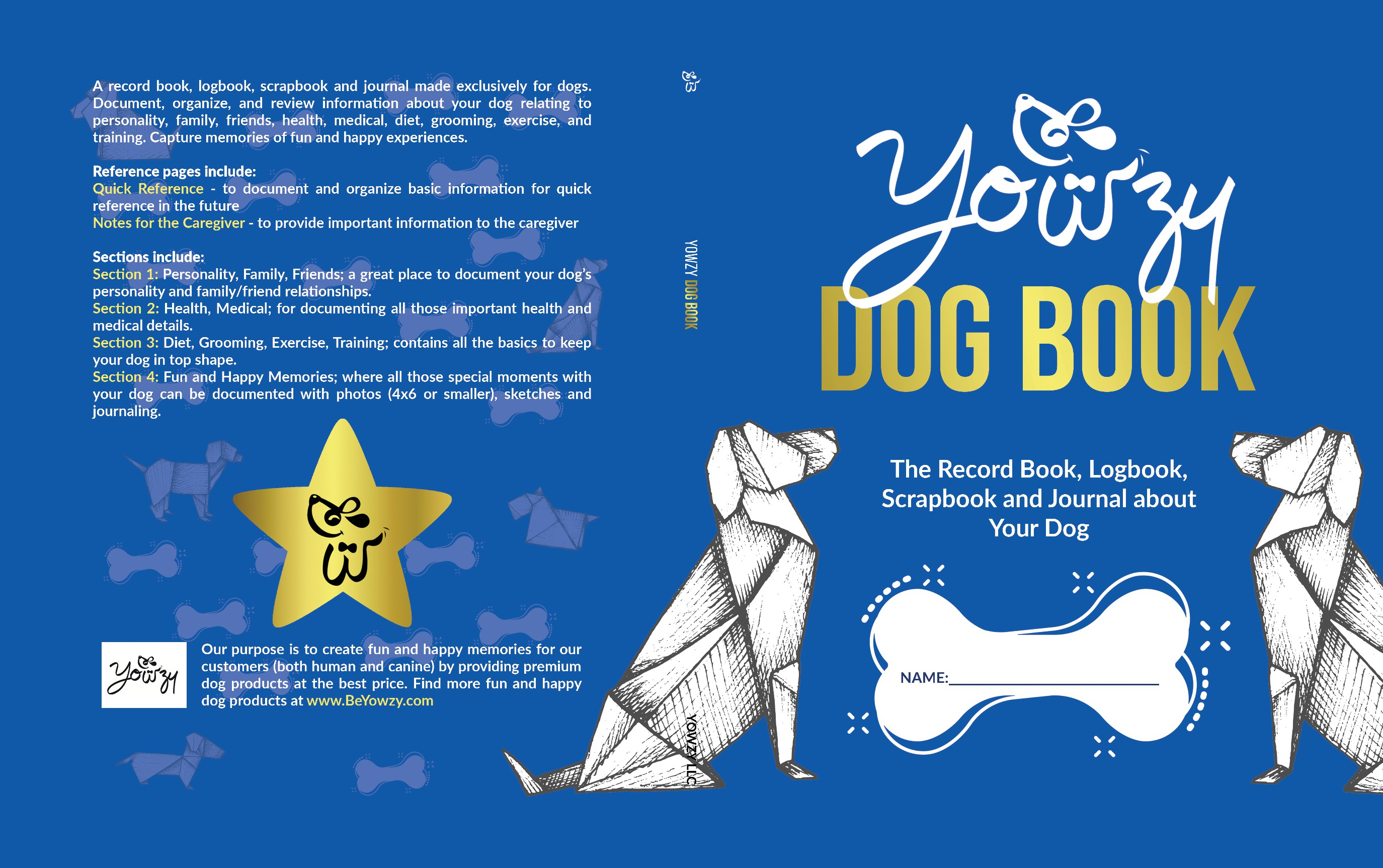 Design the cover of the best dog book ever!
