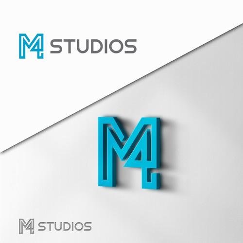 M4 Studios Logo Design