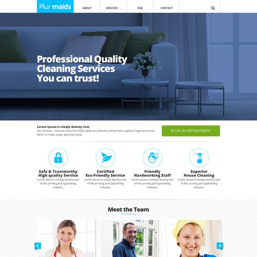 website design for professional cleaning services