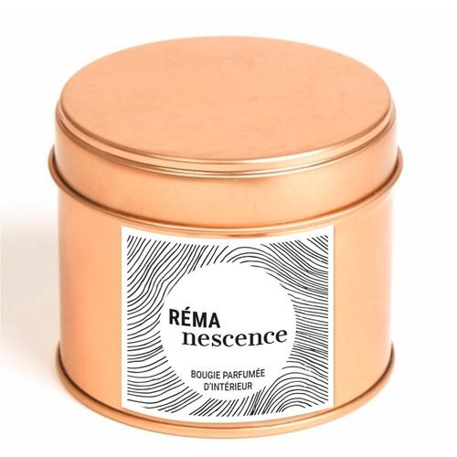 Etiquette produit pour la marque Rémanescence
