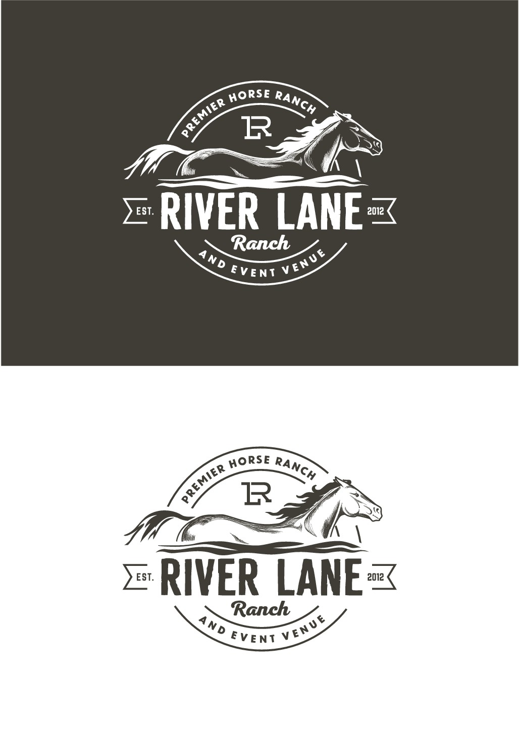 Stylish and unique logo for horse ranch