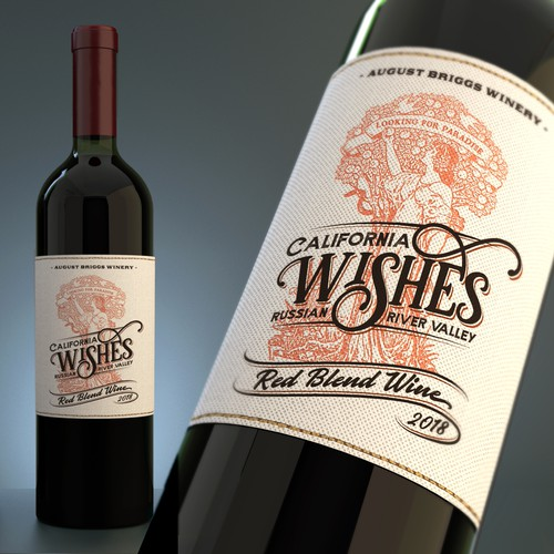 Dream big and create an awesome label for our red wine...Wishes!
