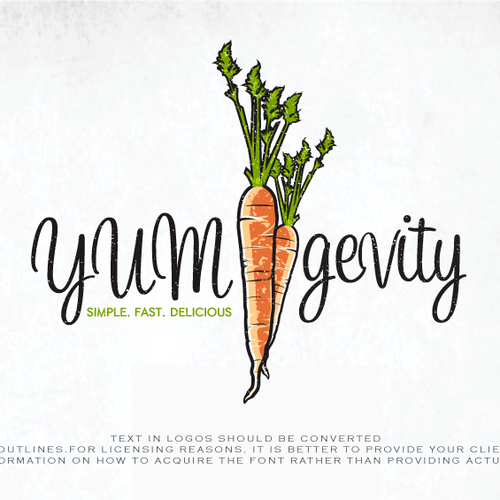 Logo For YUMgevity recipies  website