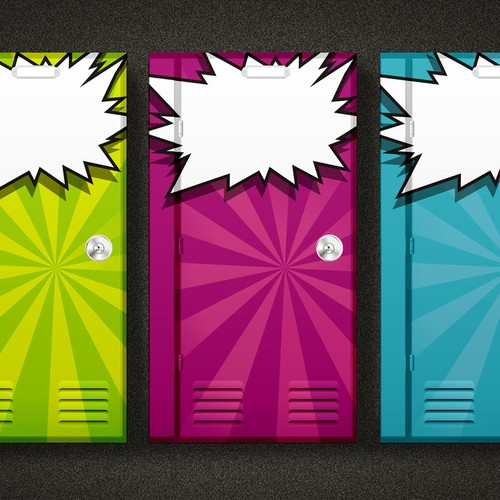 Design a Cool Locker Character for a Journal Cover for Kids