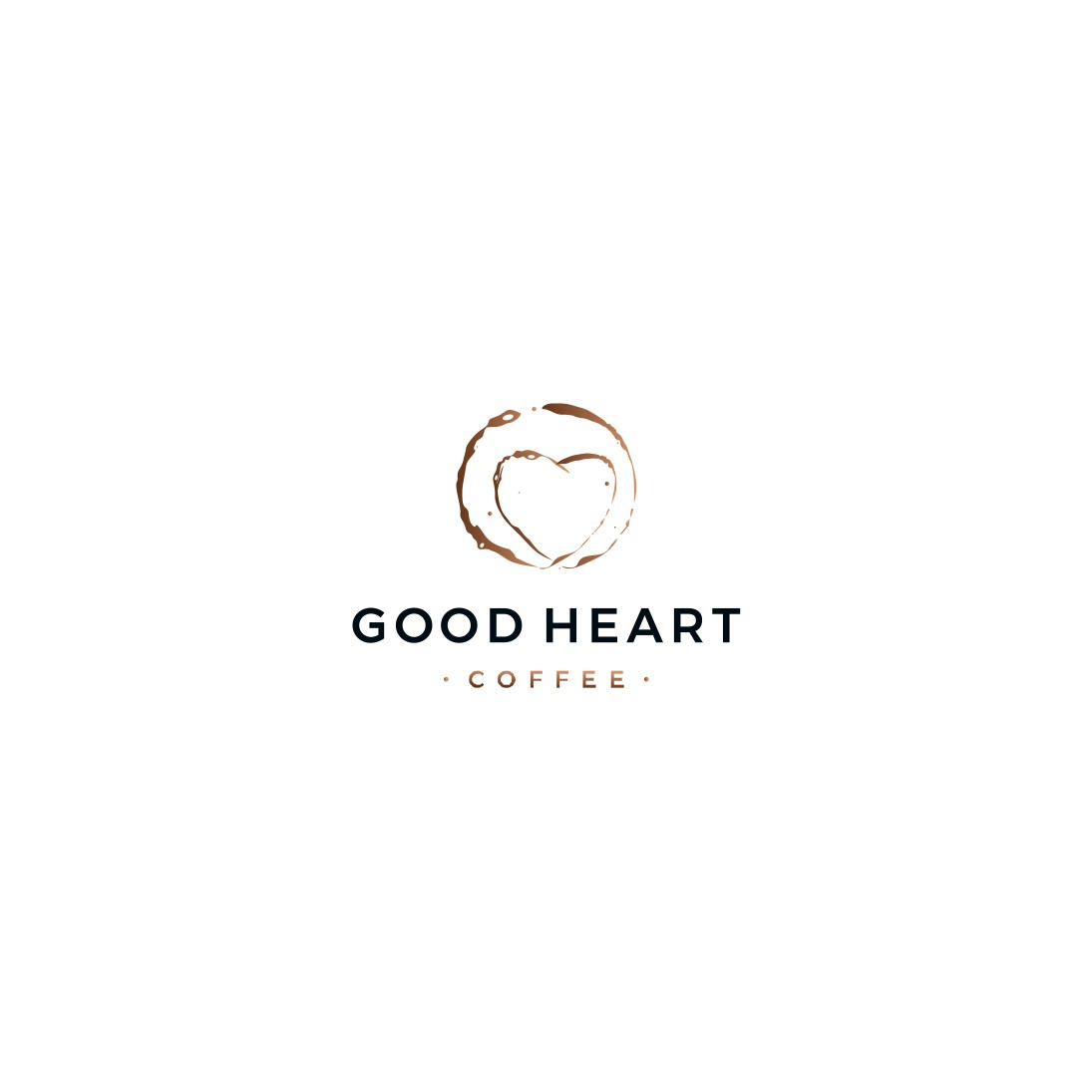 Coffee Bag Logo that shows kindness and coffee
