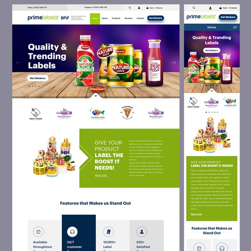 Design a Website for our label printing company