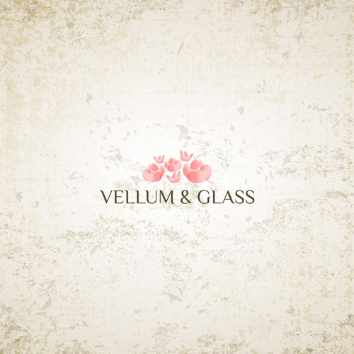 Vellum & Glass logo designs
