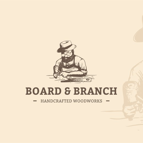 Create a Logo for Board & Branch, a woodworking company focused onsalvaged timber