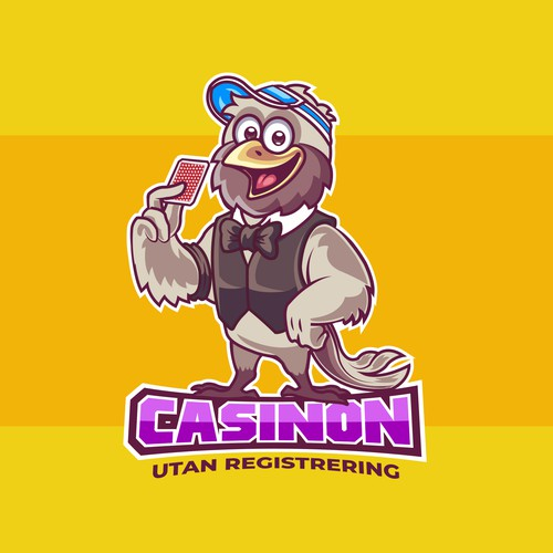 Casino card trader mascot