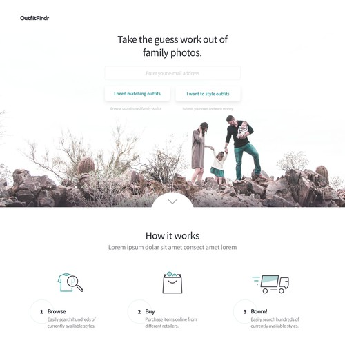 Family Fashion Site Landing Page