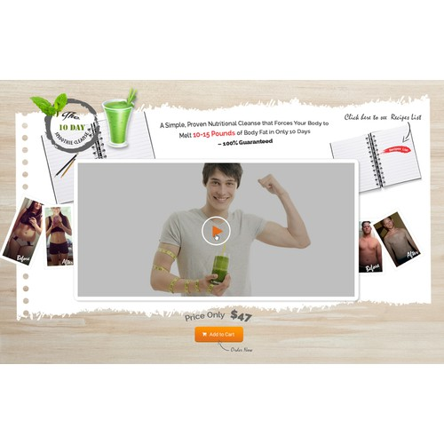 10 day smoothie cleanse landing page