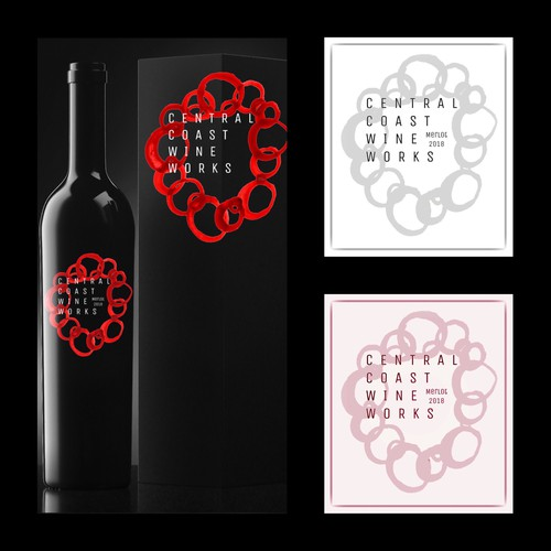 Concept main logo for Central Coast Wine Works