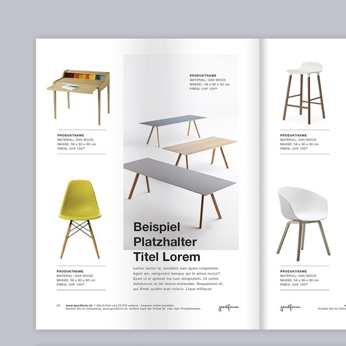 Brochure/catalog minimalist style-layout for furniture store
