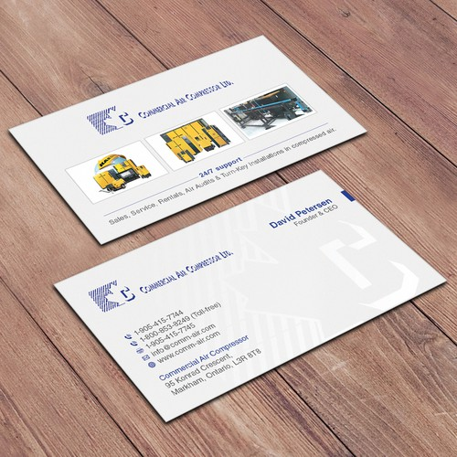 Premium Industrial Equipment supplier needs an Awesome business card!