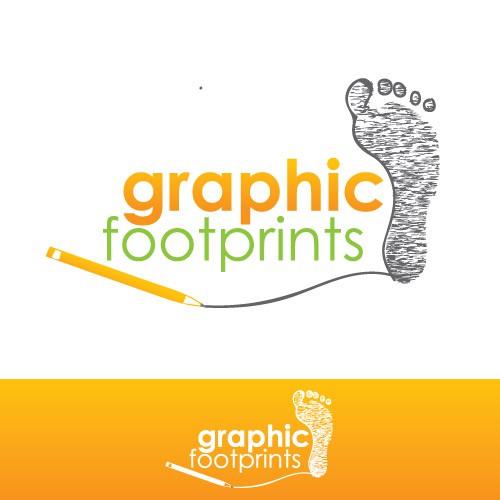 Graphic Footprints - creative job needs matching logo