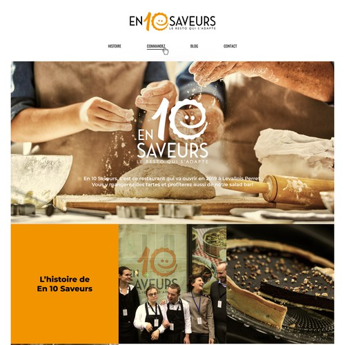 web page design concept for restaurant in France