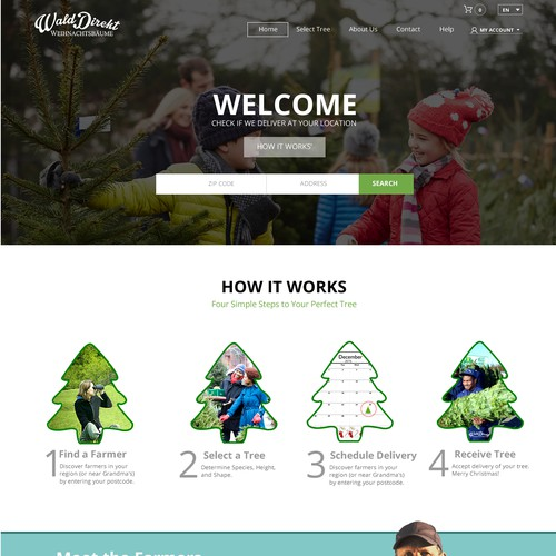 Website Design for a Christmas Tree Farming company