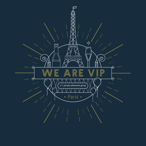 Logo for party people in Paris : WE ARE VIP