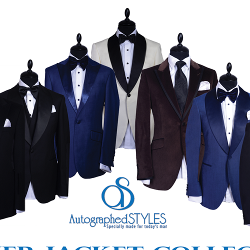 Create unique and captivating graphics for bespoke suit business